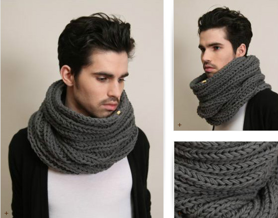 Мужской шарф снуд вязание 375